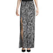Worthington® Side Pleat Knit Maxi Skirt - Petite