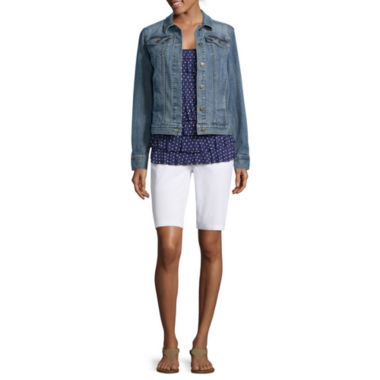 jcpenney.com | Liz Claiborne® Denim Jacket, Tiered Tank Top or Bermuda Shorts