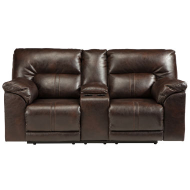 jcpenney.com | Signature Design by Ashley® Barrettsville Double-Reclining Loveseat with Console