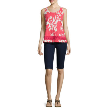 jcpenney.com | St. John's Bay® Crochet Trim Tank Top or Bermuda Shorts