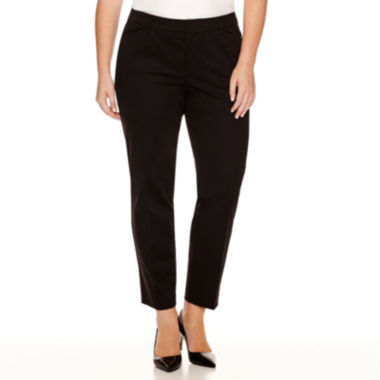 jcpenney.com | Stylus™ Crossover Ankle Pants - Plus