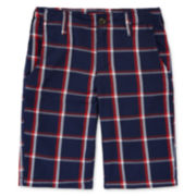 Arizona Plaid Chino Shorts - Boys 8-20, Husky and Slim