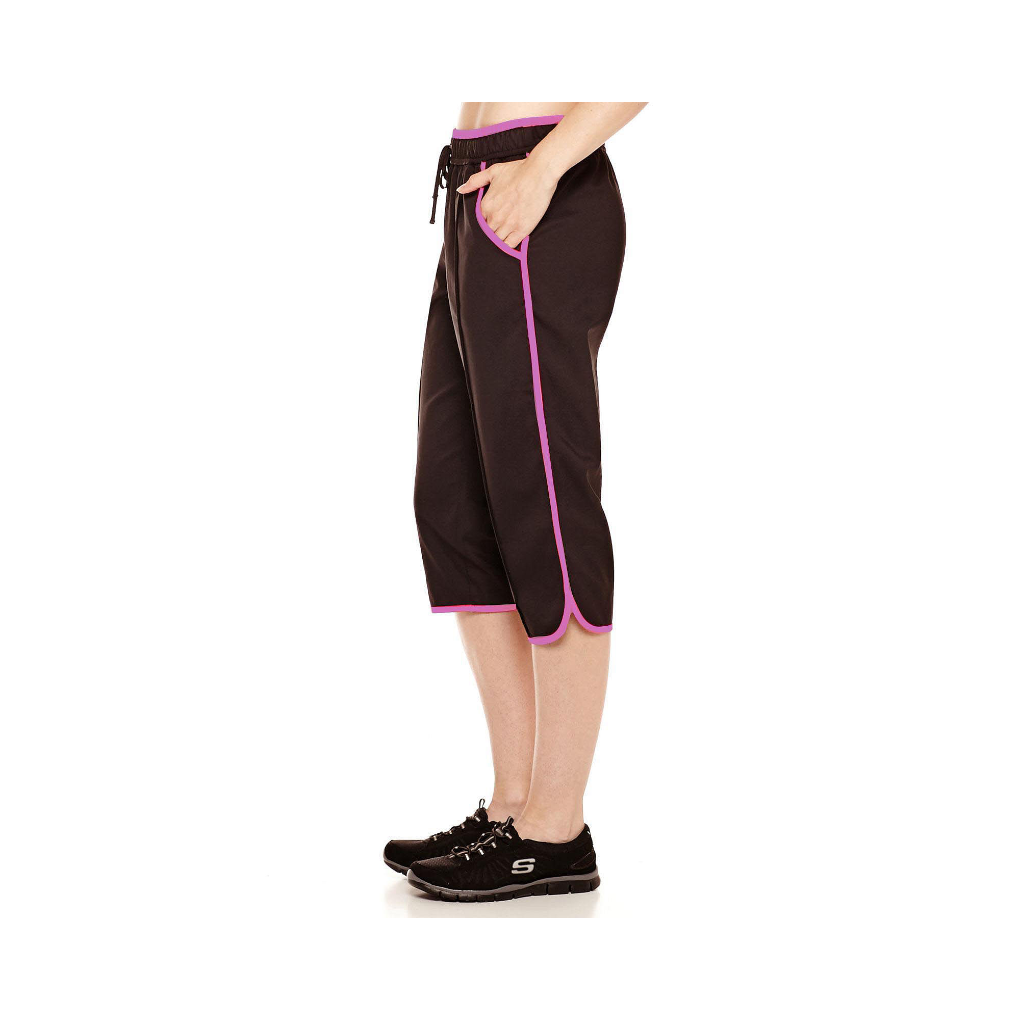Made for Life™ Pintuck Piped Capri Pants - Tall plus size,  plus size fashion plus size appare
