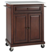 Wellman Stainless-Steel-Top Portable Kitchen Cart
