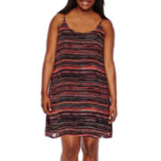Decree® Strappy Back Dress - Juniors Plus