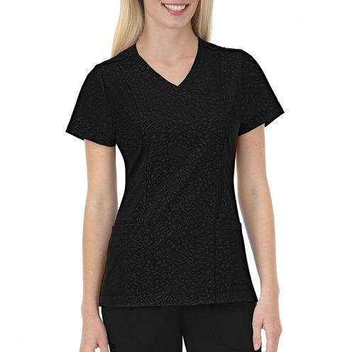 Jockey® Solid Illusions™ Womens Embossed Scrub Shirt - Plus