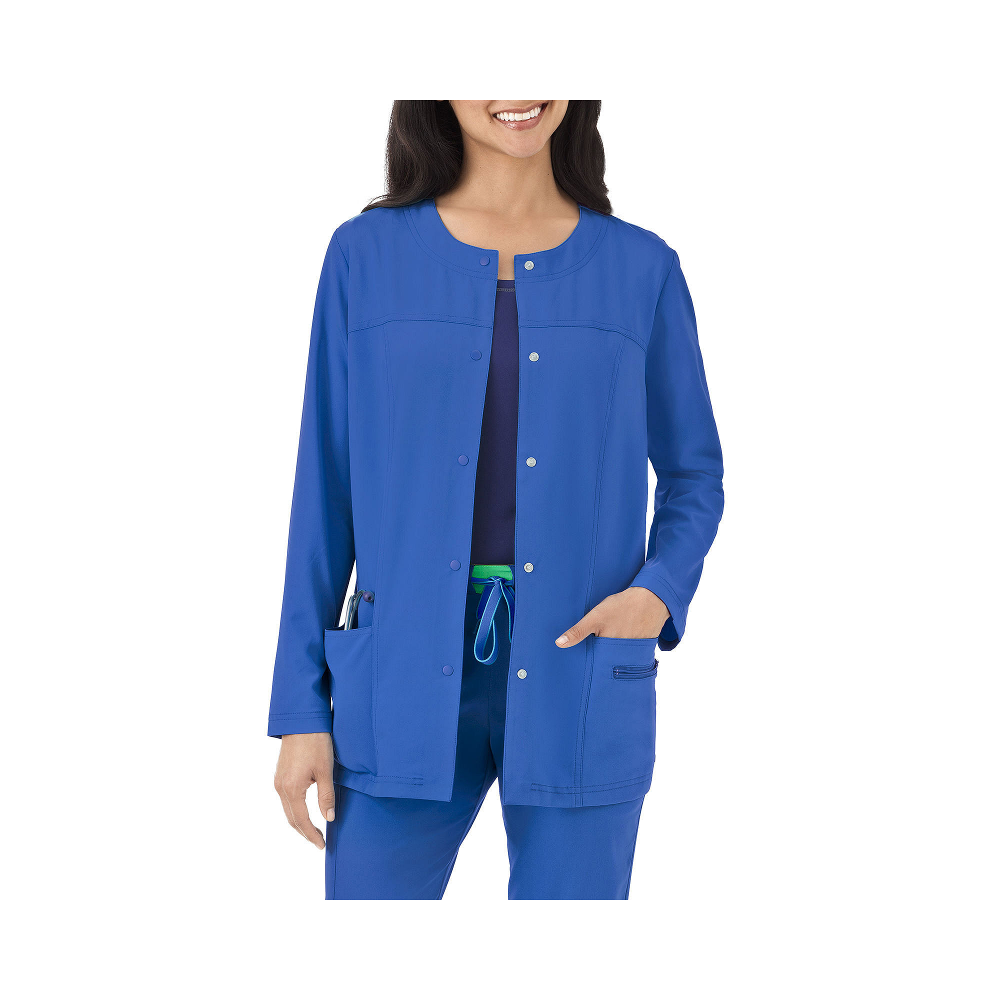Jockey Womens Modern Snap-Front Scrub Jacket - Plus plus size,  plus size fashion plus size appare