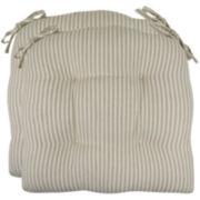 Park B. Smith® 2-pk. Metro Farmhouse Stripe Chair Cushions