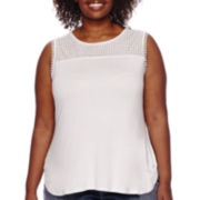 Liz Claiborne® Embellished Tank Top - Plus