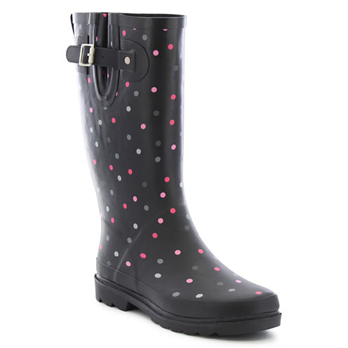 Western Chief Dazzling Dots Womens Waterproof Rain Boots