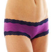 Flirtitude® Lace-Trim Hipster Panties