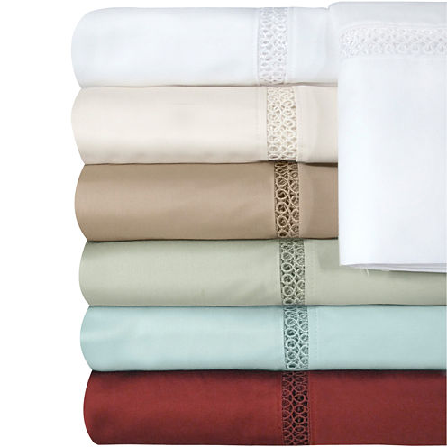 Veratex 500tc Egyptian Cotton Sateen Embroidered Prince Set of 2 Pillowcases