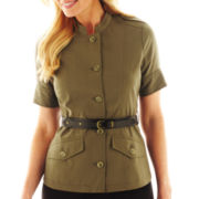 Worthington® Belted Military Jacket