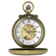 Dakota Men's Mechanical Gold Dress Dual Cover Pocket Watch 32807