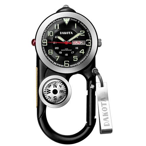 Dakota Men's Black Angler II Carabiner Clip Watch 37089
