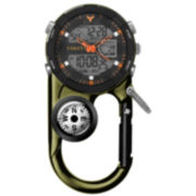 Dakota Men's Green Ana Digi Angler II Carabiner Clip Watch 37252