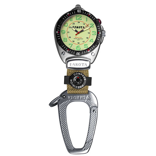 Dakota Big Face Carabiner Clip Watch, Cream
