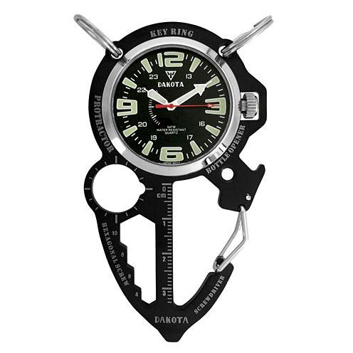 Dakota Men's Black ION Multi Tool Clip Watch 38562