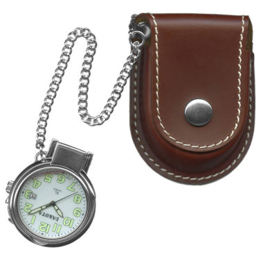 jcpenney.com | Dakota Men's Leather Pouch Pocket Watch 38462