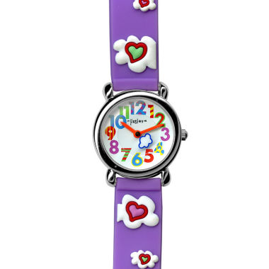 jcpenney.com | Dakota Fusion Kids Purple Hearts and Clouds Watch 49080
