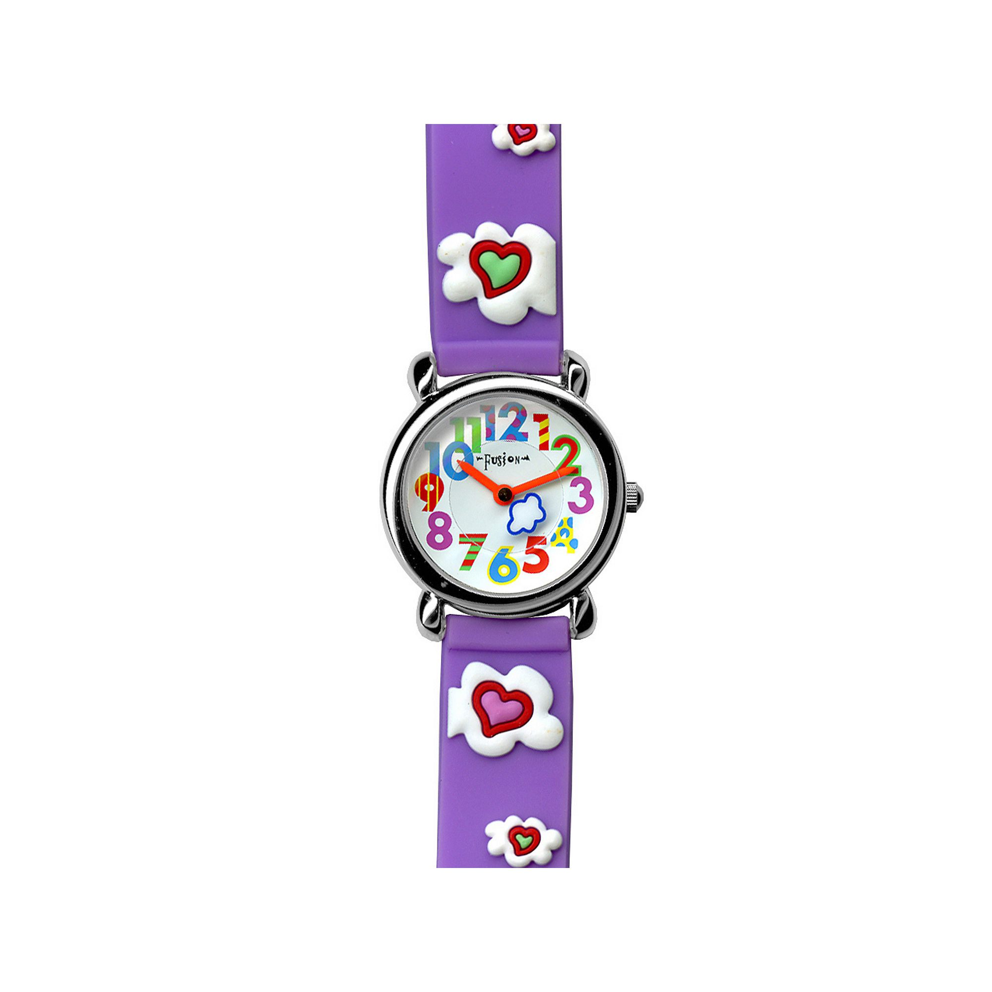 Dakota Fusion Kids Purple Hearts and Clouds Watch 49080