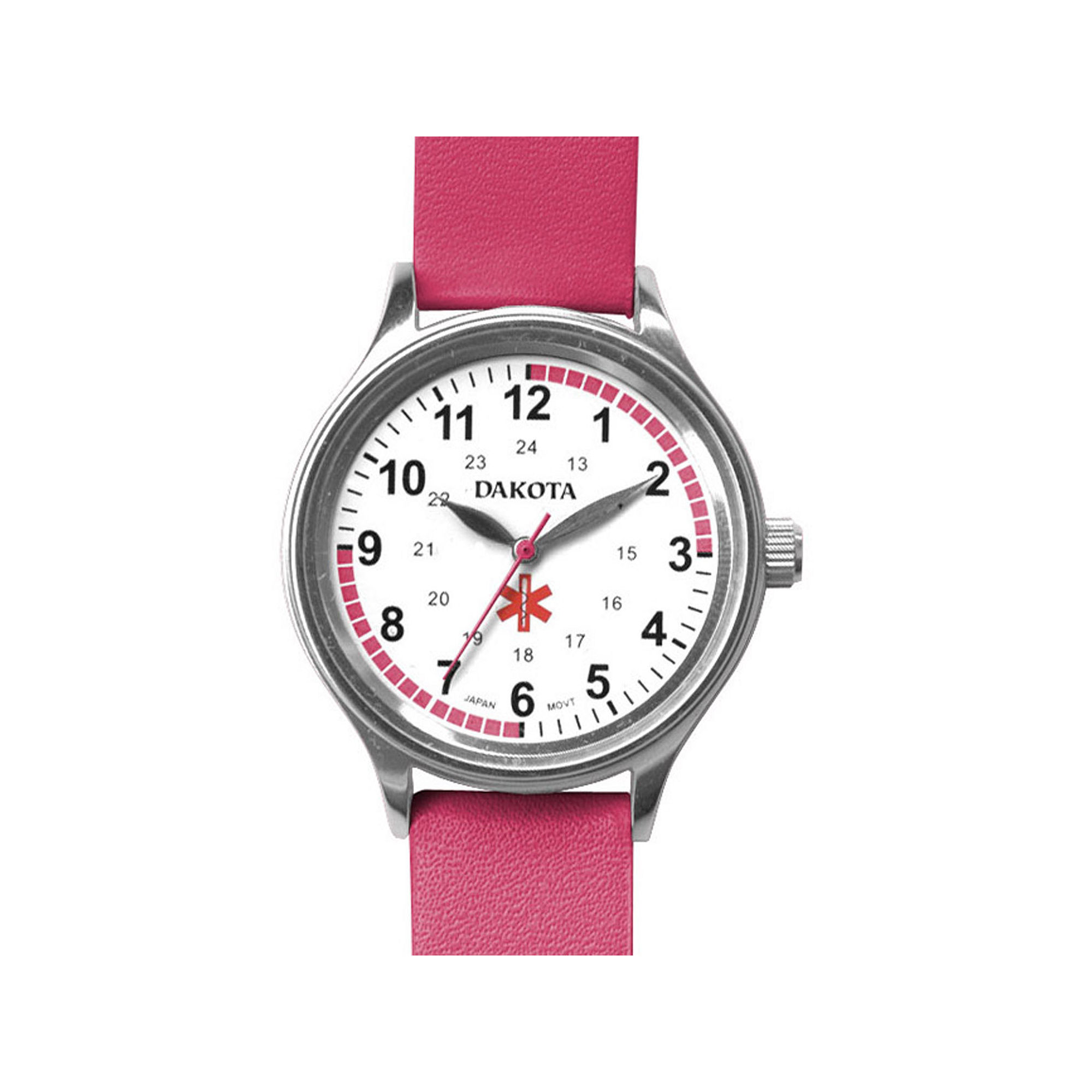 Dakota Women's Fun Color Nurse Watch, Pink