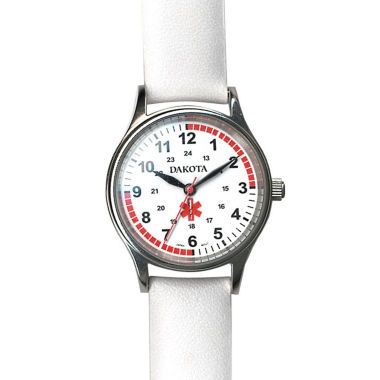 jcpenney.com | Dakota White Leather Nurse Watch