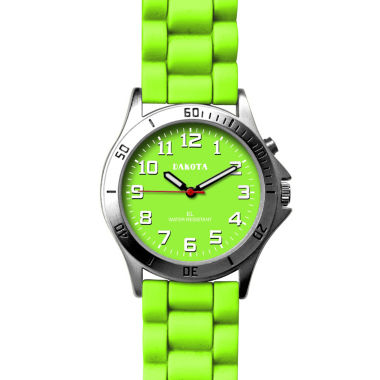 jcpenney.com | Dakota Women's Silicone Color EL Strap Watch, Green