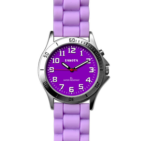 Dakota Women's Silicone Color Watch, Purple 53872