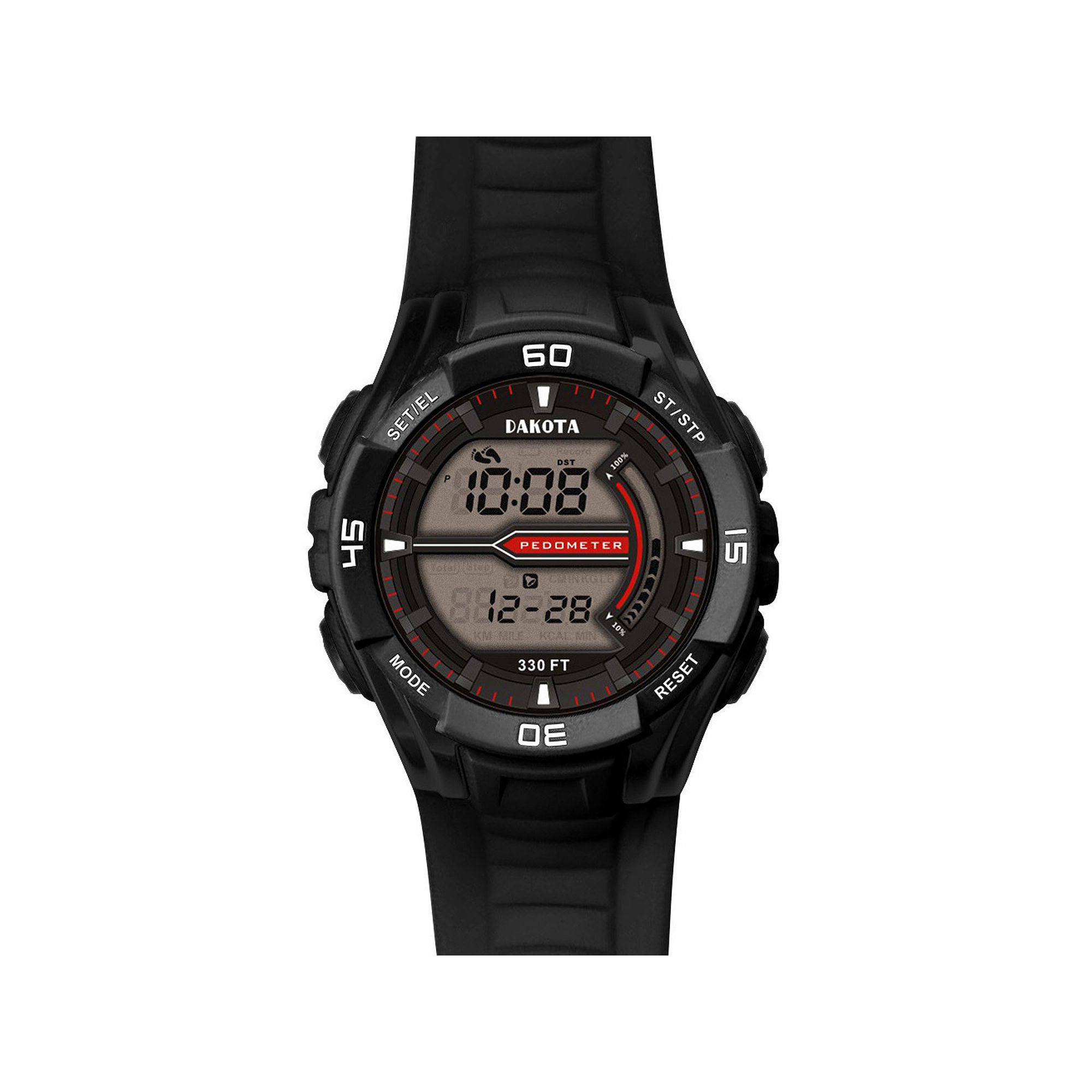 Dakota Black Pedometer Watch 36923