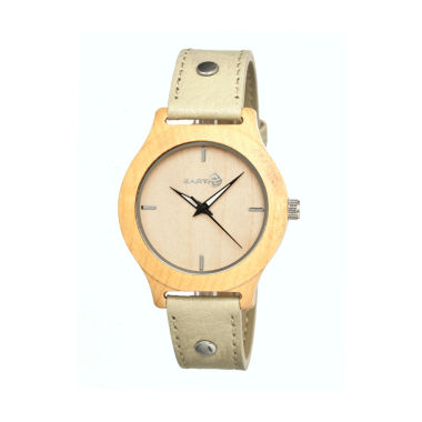 jcpenney.com | Earth Wood Tannins Khaki Leather-Band Watch Ethew1301
