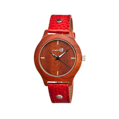 jcpenney.com | Earth Wood Tannins Red Leather-Band Watch Ethew1303