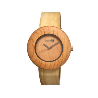jcpenney.com | Earth Wood Ligna Yellow Leather-Band Watch Ethew1401