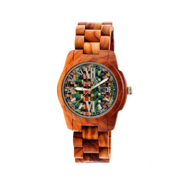 jcpenney.com | Earth Wood Heartwood Skateboard-Dial Red Bracelet Watch With Date Ethew1507