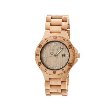 jcpenney.com | Earth Wood Raywood Khaki Bracelet Watch With Date Ethew1701