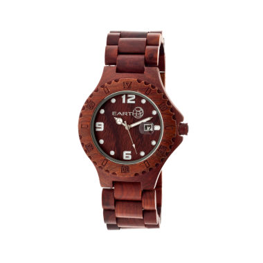jcpenney.com | Earth Wood Raywood Red Bracelet Watch With Date Ethew1703
