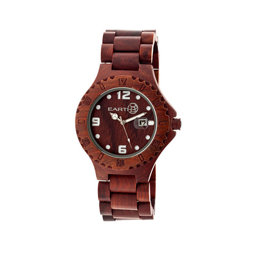 Earth Wood Raywood Red Bracelet Watch With Date Ethew1703