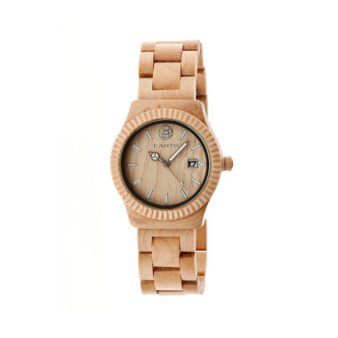 jcpenney.com | Earth Wood Pith Khaki Bracelet Watch With Date Ethew1801