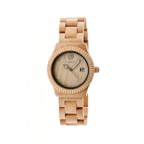 Earth Wood Pith Khaki Bracelet Watch With Date Ethew1801