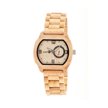 jcpenney.com | Earth Wood Scaly Khaki Bracelet Watch with Date ETHEW2101