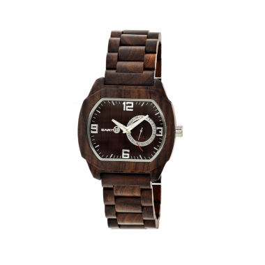 jcpenney.com | Earth Wood Scaly Dark Brown Bracelet Watch with Date ETHEW2102