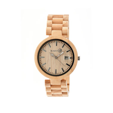 jcpenney.com | Earth Wood Stomates Khaki Bracelet Watch with Date ETHEW2201