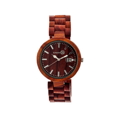 jcpenney.com | Earth Wood Stomates Red Bracelet Watch with Date ETHEW2203