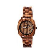 Earth Wood Indios Dark Brown Bracelet Watch with Date ETHEW2302