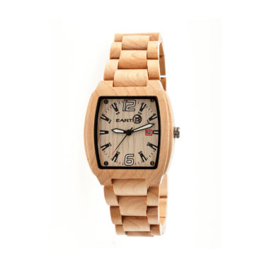 jcpenney.com | Earth Wood Sagano Khaki Bracelet Watch with Date ETHEW2401