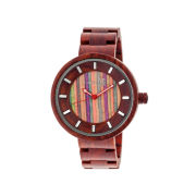Earth Wood Root Skateboard-Dial Red Bracelet Watch ETHEW2507 1