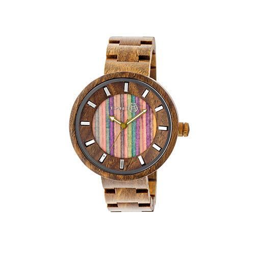 Earth Wood Root Skateboard-Dial Red Bracelet Watch ETHEW2507