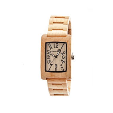 jcpenney.com | Earth Wood Trunk Khaki Bracelet Watch with Date ETHEW2601