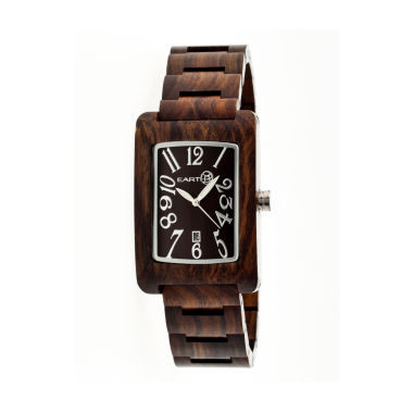 jcpenney.com | Earth Wood Trunk Dark Brown Bracelet Watch with Date ETHEW2602