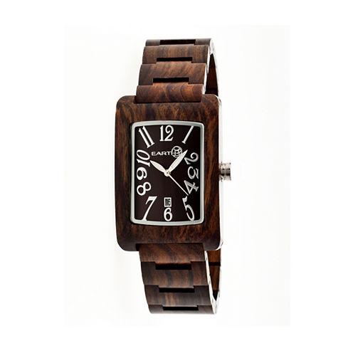 Earth Wood Trunk Dark Brown Bracelet Watch with Date ETHEW2602